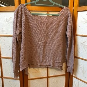 Brandy Melville wide neck sweater